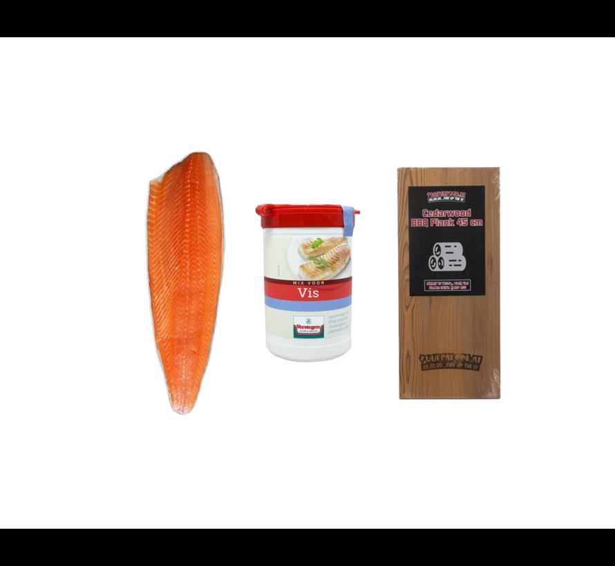 Norwegian Salmon Side 1200 grams + Verstegen Mix + Cedar Plank Deal