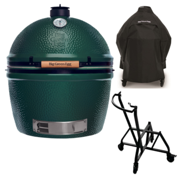 Big Green Egg Big Green Egg XXLarge + Integgrated Nest + Handler + Cover