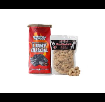 Betterwood BetterWood Charcoal / Wokkels Deal 8 kg