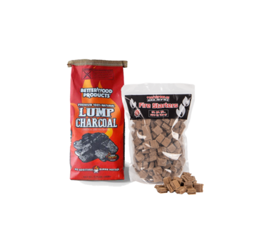Betterwood BetterWood Charcoal / Aanmaakblokjes Deal 8 kg