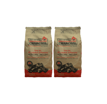All Natural All Natural Hardwood Lump Charcoal Deal 2 x 9 kg