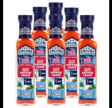 Encona Encona West Indian Original Hot Pepper Sauce 6x142 ml