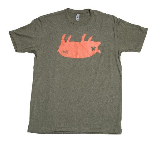 PK Grill PK Grills Pig Tee Shirt in Green