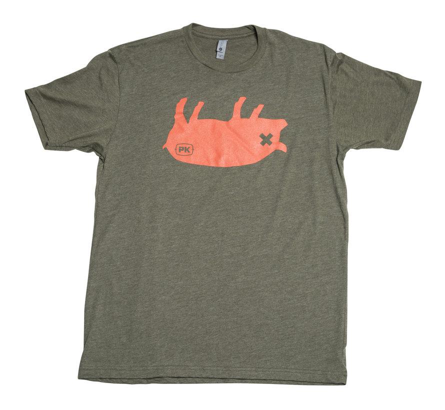 PK Grills Pig Tee Shirt in Green