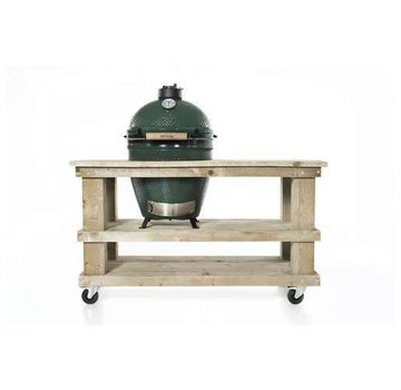 Steigerhouten tafel Big Green Egg Medium & Large Old Look