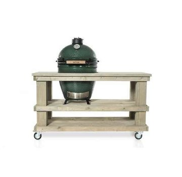 Steigerhouten tafel Big Green Egg Medium & Large Grey-Wash