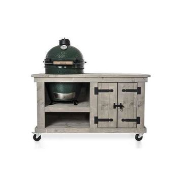 Steigerhouten Tafel Storage Big Green Egg Medium & Large Grey-Wash