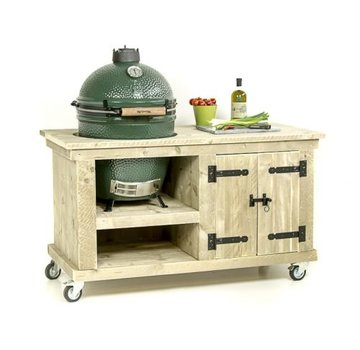 Steigerhouten tafel Storage Big Green Egg Medium & Large Old Look