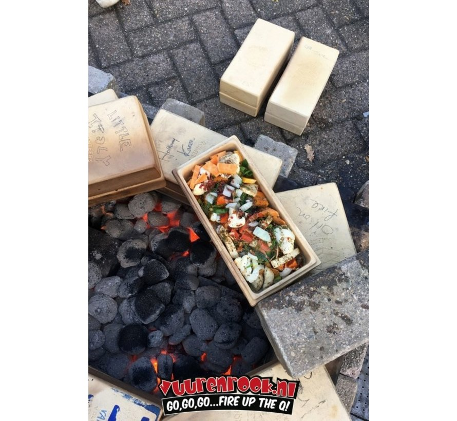 Römertopf Cooking Stone Brick Black 2 pieces Deal