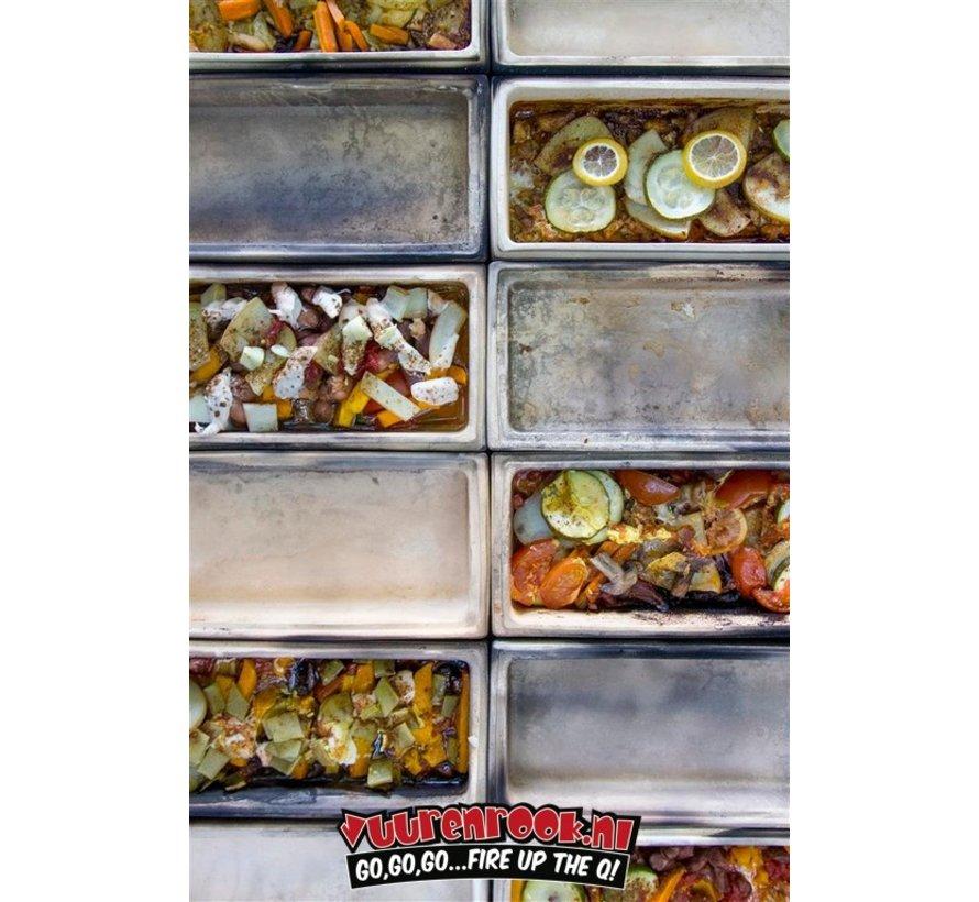 Römertopf Cooking Stone Brick Schwarz / Apple Brader / Recipe Booklet Deal