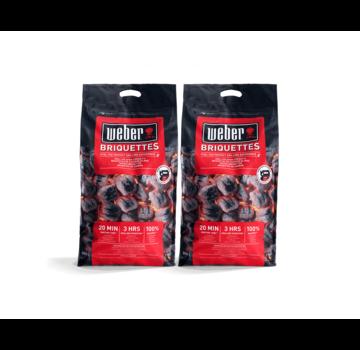 Weber Weber Briketts Pillow Shape 2 x 8 kg Deal
