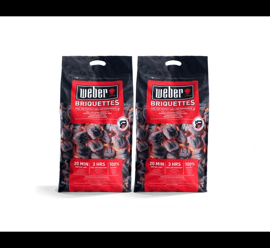 Weber Briketten Deal 2x8 kg