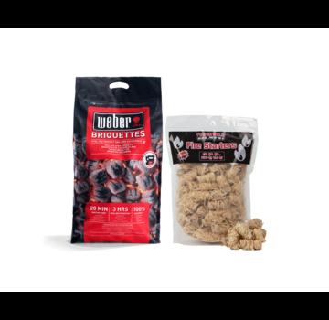 Weber Weber Briquettes Pillow Shape 8 kg / Wooden Fire Starters Deal