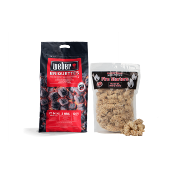 Weber Weber Briquettes / Wooden Fire Starters Deal 8 kg