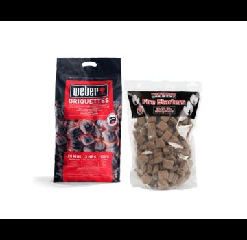 Weber Weber Briketten / Aanmaakblokjes Deal 8 kg