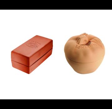 Römertopf Römertopf Cooking Stone Brick Orange / Apple Brader + Recipe Deal