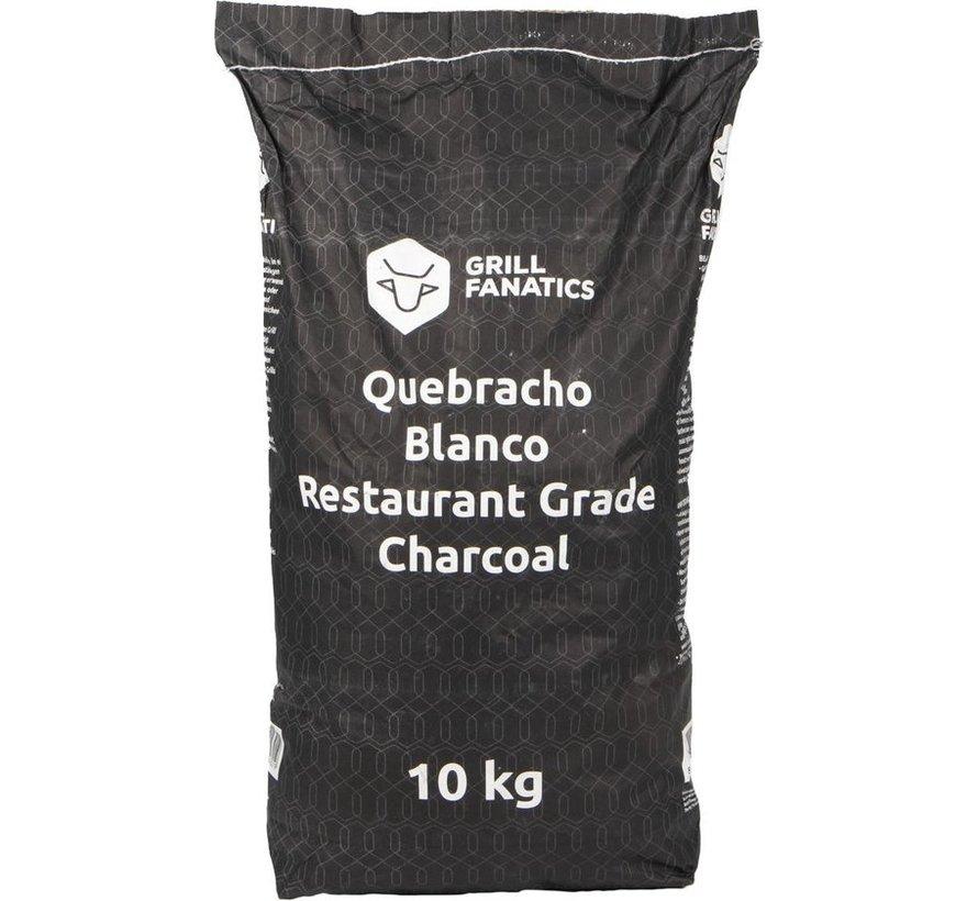 Grill Fanatics White Quebracho Restaurant Grade Lump Charcoal 10 kg