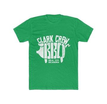 Clark Crew BBQ Clark Crew BBQ Men's BBQ T-Shirt Solid Kelly Green