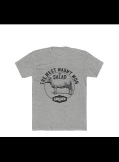 Clark Crew BBQ Clark Crew The West Heren BBQ T-Shirt Heater Grey