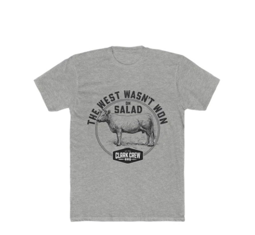 Clark Crew The West Heren BBQ T-Shirt Heater Grey