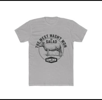 Clark Crew BBQ Clark Crew The West Heren BBQ T-Shirt Solid Light Grey