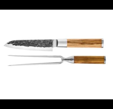 Forged Olive Forged Santoku Knife / Carving fork