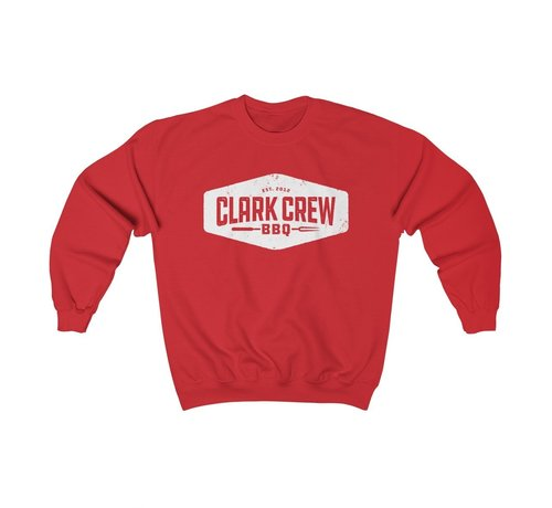 Clark Crew BBQ Clark Crew Unisex Heavy Blend Crewneck Sweater Red