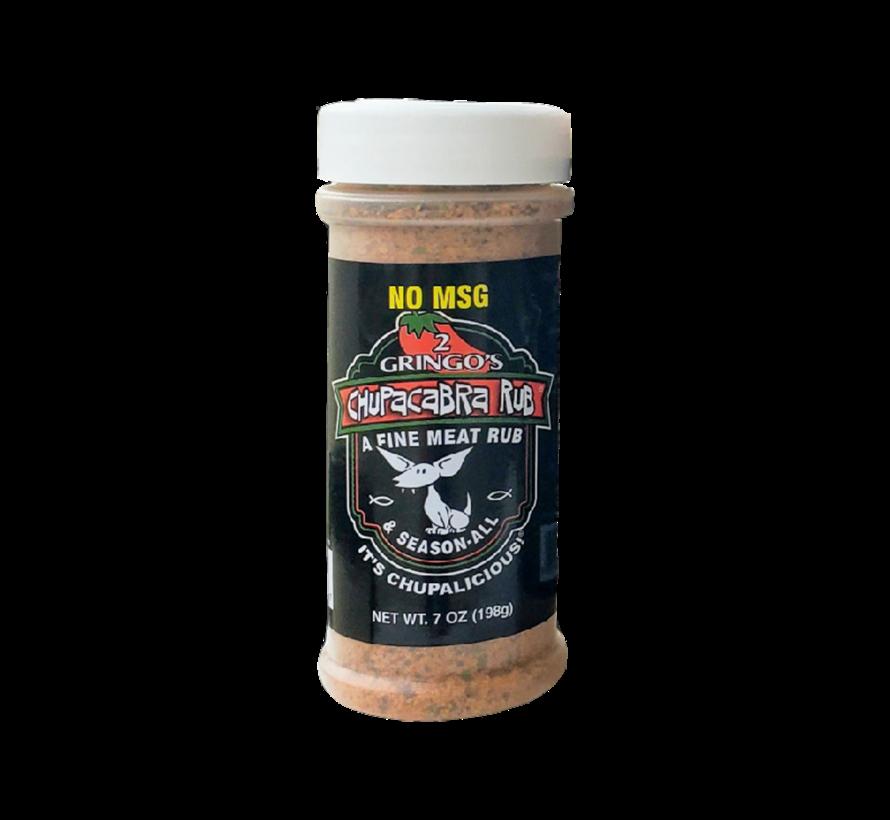2 Gringos Chupacabra BBQ Rub NO MSG 7 oz