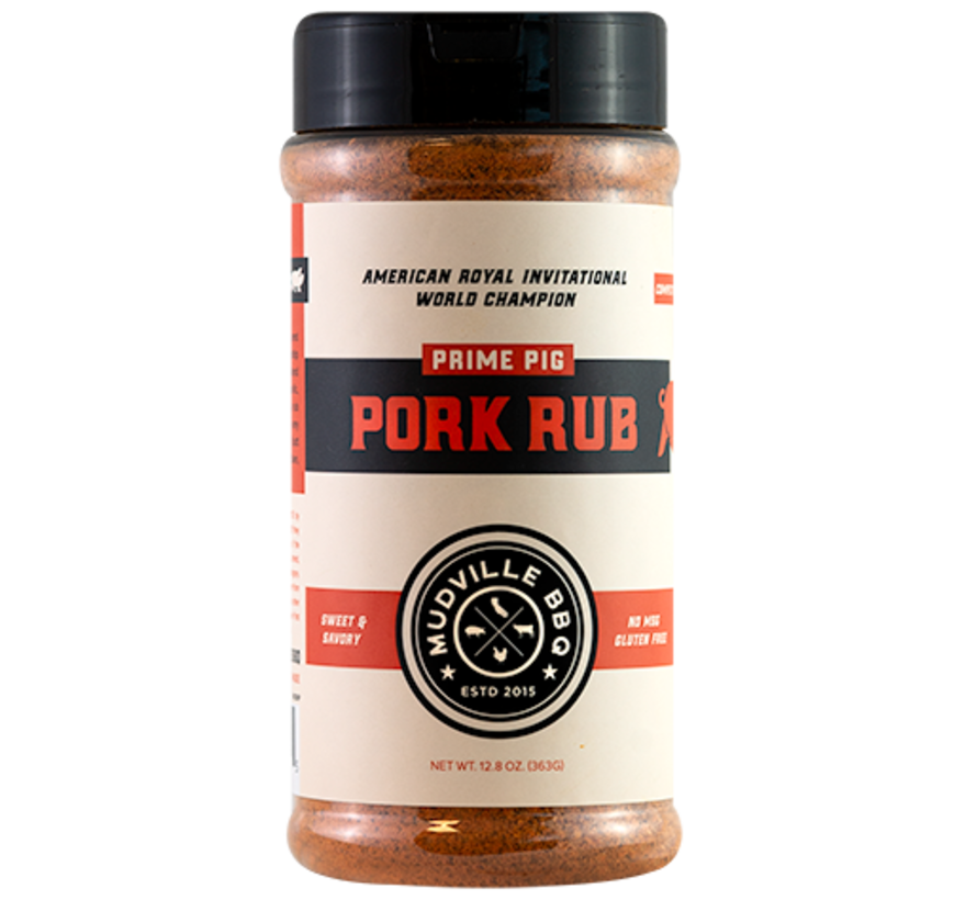 Mudville BBQ Prime Pig Pork Rub 12.8 oz