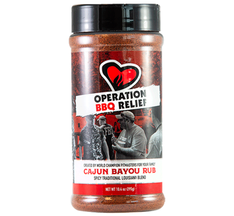 Operation BBQ Relief Cajun Bayou Rub 10.4 oz