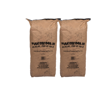 Dammers Vuur&Rook South African Premium Lump Charcoal 100% Black Wattle by Dammers 2 x 10 kg Deal
