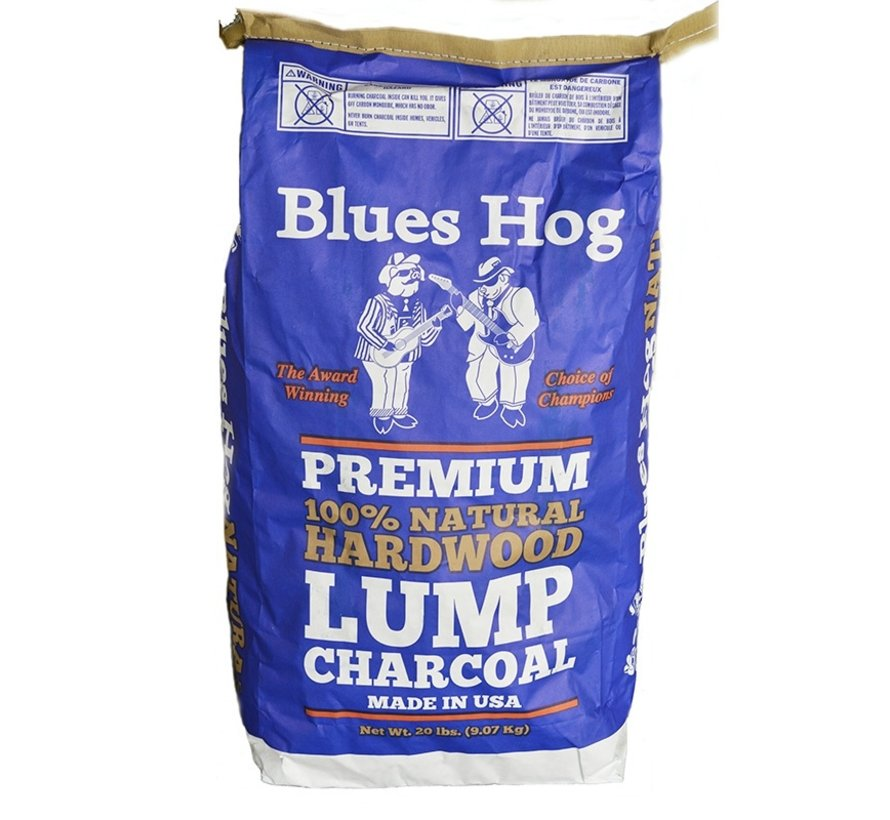 Blues Hog Lump Holzkohle Hickory & Eiche / Wooden Fire Starters Deal 8 kg