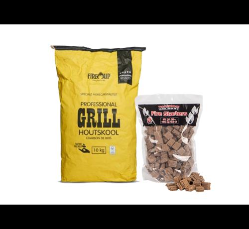 Peko Peko / Fire Up Horeca Acacia Zuid Afrika Houtskool / Aanmaakblokjes Deal 10 kg