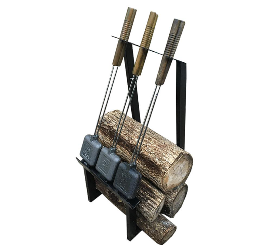 Rome Pie Iron Kickstand + Firewood Rack