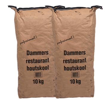 Dammers Dammers Horeca Acacia (Zuid Afrika Black Wattle) Houtskool 2 x 10 kg Deal