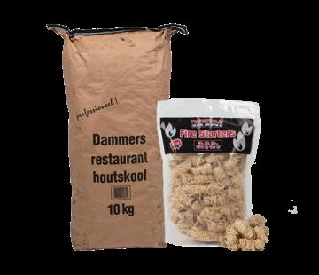 Dammers Dammers Horeca Acacia (Zuid Afrika Black Wattle) Houtskool / Wokkels Deal 10 kg