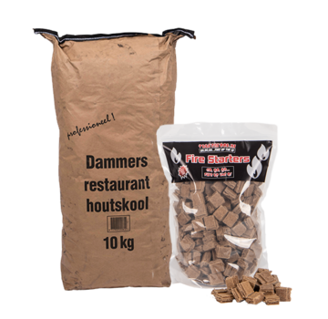Dammers Dammers Horeca Acacia (South Africa Black Wattle) Charcoal / Fire Starters Deal 10 kg