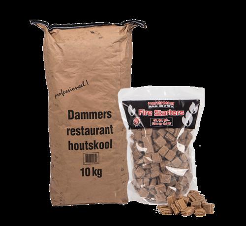 Dammers Dammers Horeca Acacia (Zuid Afrika Black Wattle) Houtskool / Aanmaakblokjes Deal 10 kg