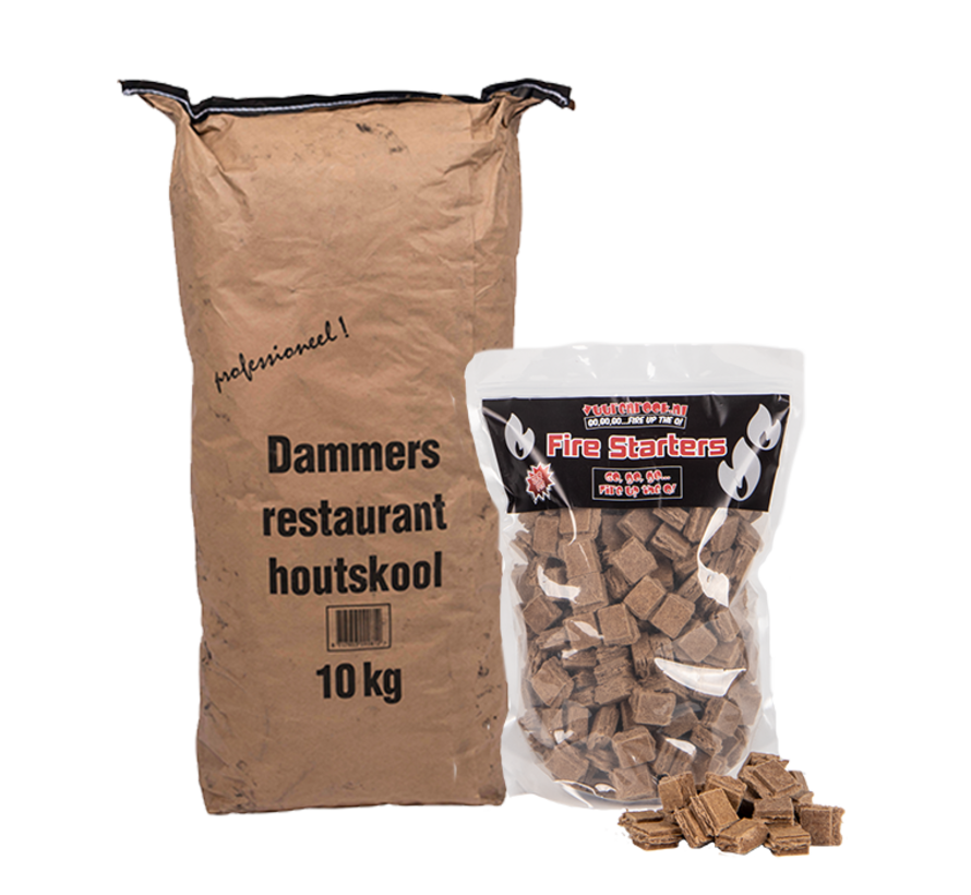 Dammers Horeca Acacia (Zuid Afrika Black Wattle) Houtskool / Aanmaakblokjes Deal 10 kg