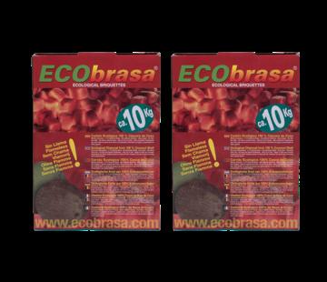 Ecobrasa Ecobrasa  Kokosbriketten Cubes 2 x 10 kg Deal