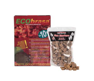 Ecobrasa Ecobrasa Kokosbriketten Cubes 10 kg  / Aanmaakblokjes Deal