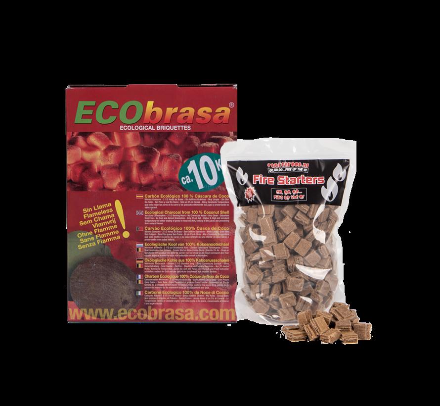 Ecobrasa Kokosbriketten Cubes 10 kg  / Aanmaakblokjes Deal