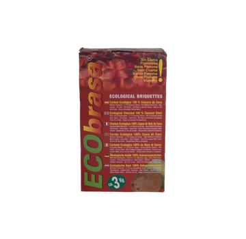 Ecobrasa Ecobrasa Coconut briquettes Cubes 3 kg