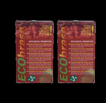 Ecobrasa Ecobrasa Coconut Briquettes Cubes Deal 2x3 kg Deal
