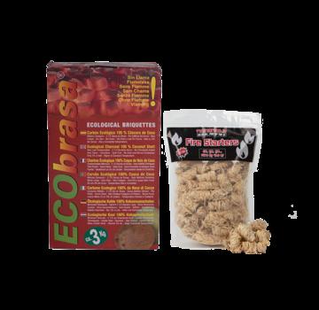 Ecobrasa Ecobrasa Coconut Briquettes Cubes / Wooden Fire Starters Deal 3 kg