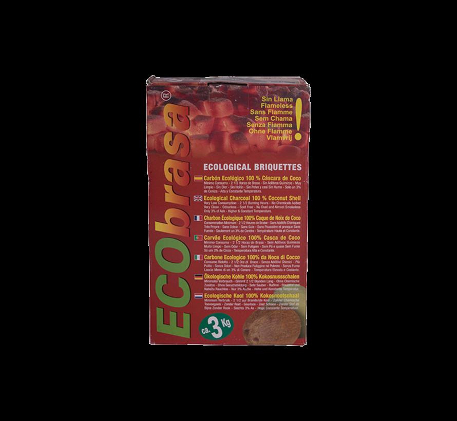Ecobrasa Kokosbriketten Cubes / Wokkels Deal 3 kg