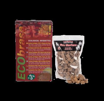 Ecobrasa Ecobrasa Coconut Briquettes Cubes / Fire Starters Deal 3 kg