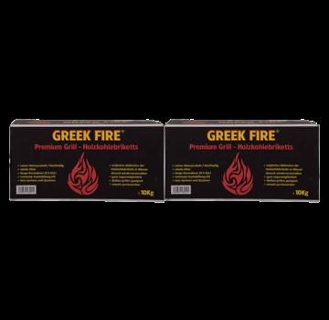 Greek Fire Greek Fire Briquettes Tubes Deal 2x10 kg