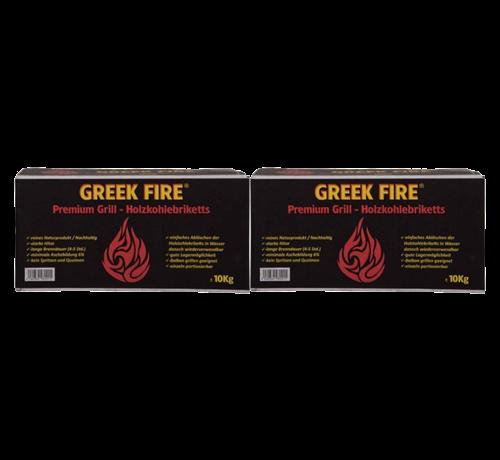 Greek Fire Greek Fire Briketten Tubes 2 x 10 kg Deal