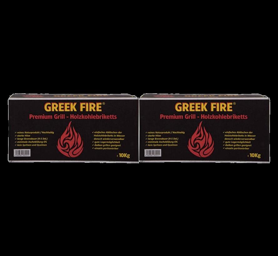 Greek Fire Briketten Tubes 2 x 10 kg Deal